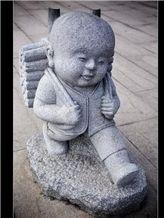 Granite Stone Little Monk Statue
