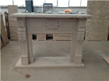 China Yunnan Red Sandstone Fireplace Mantel,Fireplace Insert