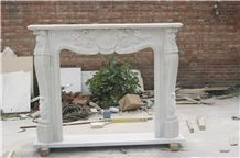 White Marble Fireplaces, Hunan White Marble Fireplace