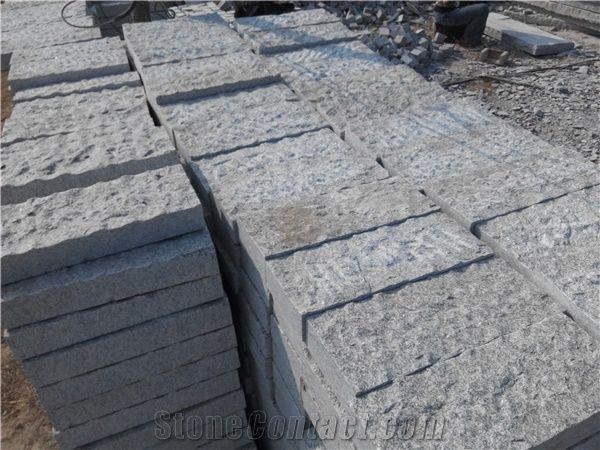 Rough Surface Granite Paver Rough Paving Stone G375 Grey Granite Cube Stone Pavers From China Stonecontact Com