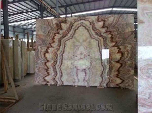 Red Dragon Onyx Slabs Red Onyx Flooring Tile From China
