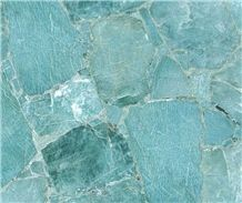Semi-Precious Slabs, Tile, Basins, and Decor Blue Collection