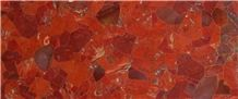 Semi-Precious Slabs, Tile, Basins, and Decor Reds and Rose Colors