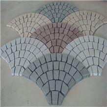 Cobble Stone Fan Shaped Granite Paving Set