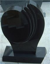 China Black Tombstone, Monument, Headstone, Gravestone, Shanxi Black Granite Gravestone