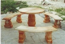 Stone Table , Garden Stone Table / Benches, Garden Stone Tables and Chairs