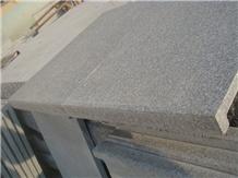 G343 China Grey Granite Flamed Tops