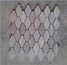 Gray Wood Grain Sandstone Mosaic