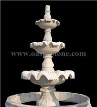 Marble Sculptured Fountain, White Marble Fountains