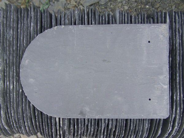 Fargo Black Slate Roofing Tiles Half Round Roof Tiles Roof