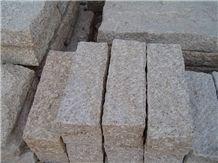Fargo Granite Palisade/Pillars Yellow Granite G682 Garden Decor/Exterior Stone