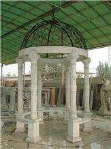White Marble Column Gazebo