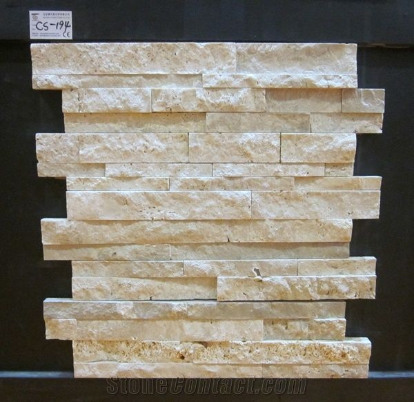 White Travertine Stacked Stone Veneer Ledge Stone