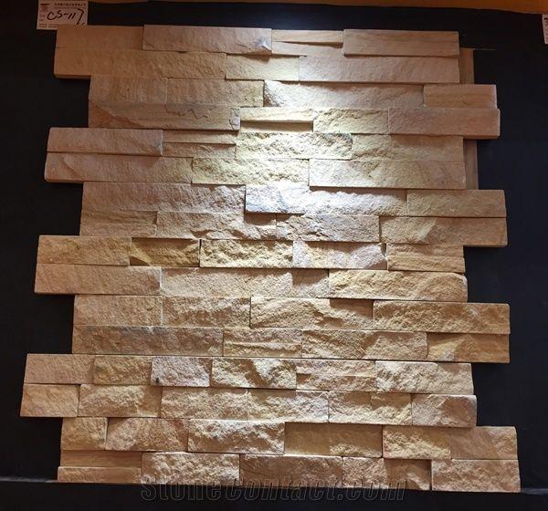 Yellow Sandstone Flexible Stone Veneer Wall Cladding