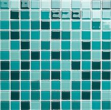 Gl062 Aquamarine Mix Crystal Glass Mosaic Bathroom Mosaic Tile