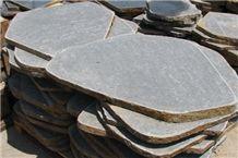Stepping Stone Flame Basalt, Grey Viet Nam Basalt Cube Stone & Paver