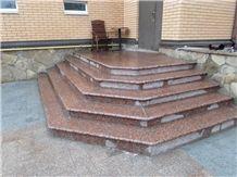 Granite Steps Zhadkivske Rosa Raveno