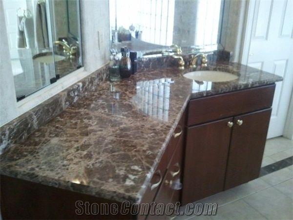 Emperador Dark Marble Bathroom Countertops Turkey Brown