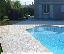 Quartzite Gontero Bianco Opus Pool Deck Crazy Pavement