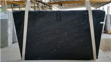 Cabugi Black Granite Slabs, Brazil Black Granite