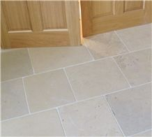 Halkyn Fossil Limestone Honed, Aged Floor Tiles