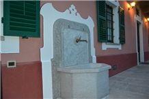 Pietra Di Luserna Exterior Wall Mounted Fountain