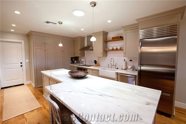 Bianco Carrara Marble Kitchen