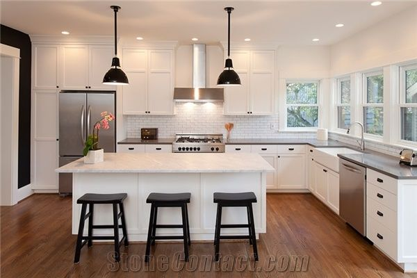 Tiffany Grey And Aspen White Solid Surface Kitchen