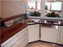 Kitchen Countertop Of Granite Rosso Vanga