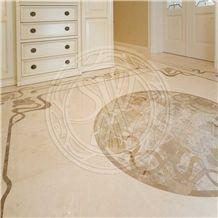 Emperador Light Marble, Crema Marfil Marble, Crema Royal Marble Floor Pattern