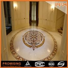 2015 New Style Greece Ariston,Spanish Cream Marifl ,Rosso Verona Natural Marble Polished Round Flooring Water Ject Medallion for Indoor Decoration