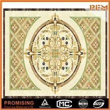 Customize Cheap Yellow Interior Carpet Square Floor Waterject Medallion