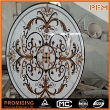 Exquisite Greece Volakas Background Round Water Ject Flooring Marble Pattern Tiles