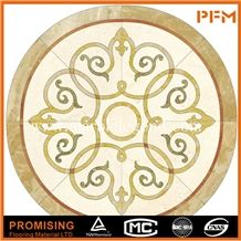 Light Emperador,Golden Year,India Green,Crema Marfil Beige Polished Round Shape Simple Pattern for Border,Marble Inlay Pattern,Marble Medallion