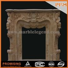 New Design / Western / European Customized Figure / Imperial Beige Marble/ Hand Carving Sculptured