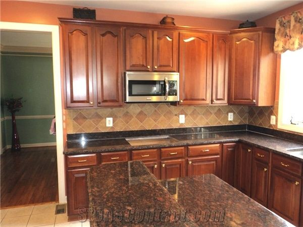 Tan Brown Granite Kitchen Countertops from United States ...