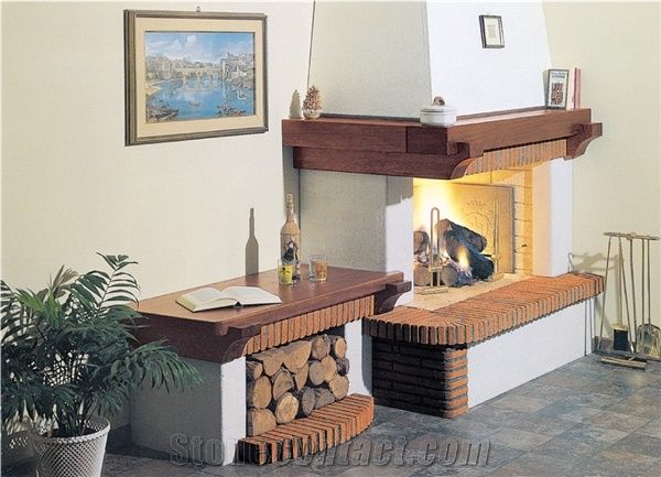 Traditional Fireplace Old Italian Mod Sardinia From Italy Stonecontact Com