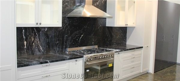 Abu Black Marble Kitchen Countertop From Australia Stonecontact Com
