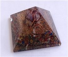 Mix Chakra Stone Orgone Pyramid with Amethyst Markaba Orgonite-Orgone Energy Pyramid Wholesale-Manufacturer-Supplier