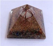 Mix Chakra Stone Orgone Pyramid with Crystal Markaba Orgonite Chakra Stone Pyramid Healing Pyramid