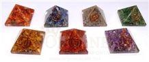 Orgone Chakra Baby Pyramid Set Orgonite Chakra Pyramid Set Chakra Wholesale Sets
