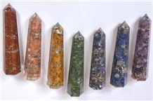 Orgone Chakra Obelisk Set Orgonite Obeliks Chakra Set Healing Crystal Orgone Manufacturer-Supplier-Exporter