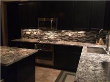 Aspen White Granite Kitchen Bench Top, White Brazil Granite Kitchen Countertop