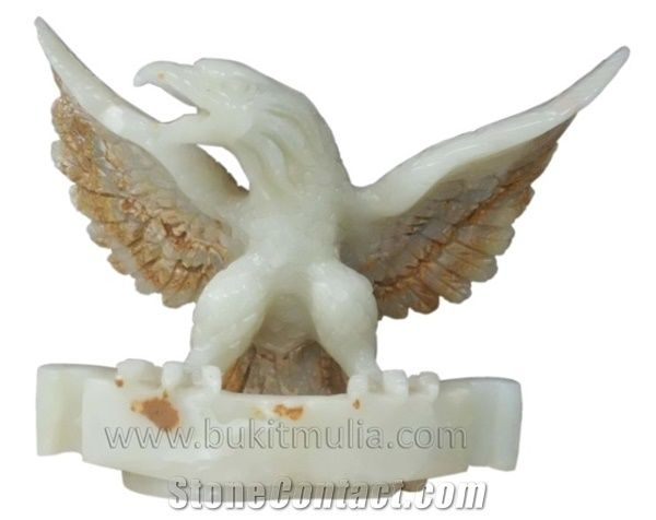 Indonesia White Eagle Sculpture Onyx Stone - StoneContact.com cce4eca3bf