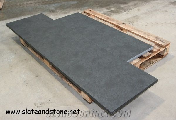 Mont Black Riven Cleft Slate Hearth Of Uk Fireplace
