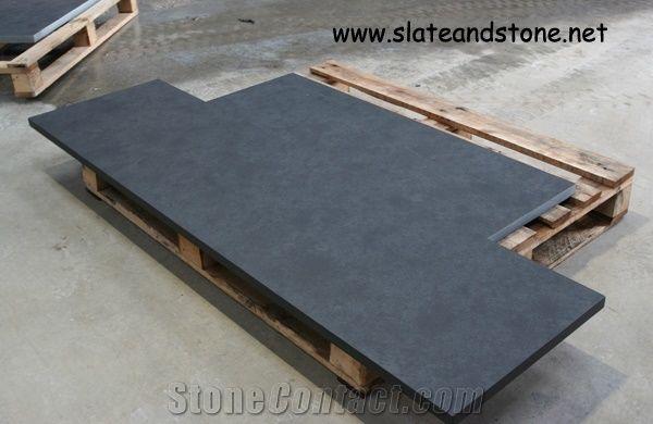 Mont Black Riven Cleft Slate Hearth