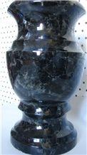 Memorial Vases from Labradorite Volga Blue, Volga Blue Extra, Extra Blue Ukraine, Galactic Blue, Blue Volga (Black Sea)