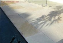 Natural Stone Sandstone Swimming Pool Pavers and Tiles, Beige Australia Sandstone Pool Pavers, Pool Coping