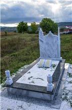 White Marble Muslim Headstones, Islamic Graves, Tombstones