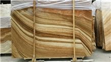 Imperial Wood Vein Yellow Marble Slabs,Wood Grain Yellow Marble Machine Cutting Panel Tiles for Floor Paving Patio